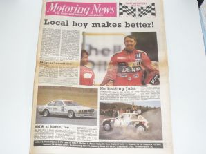 MOTORING NEWS 1986 July British GP BTCC F3, NZ Rally, Plains Rally, Thundersports